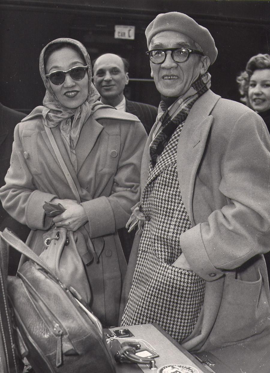 Arrivée de Foujita à Paris, 1950
