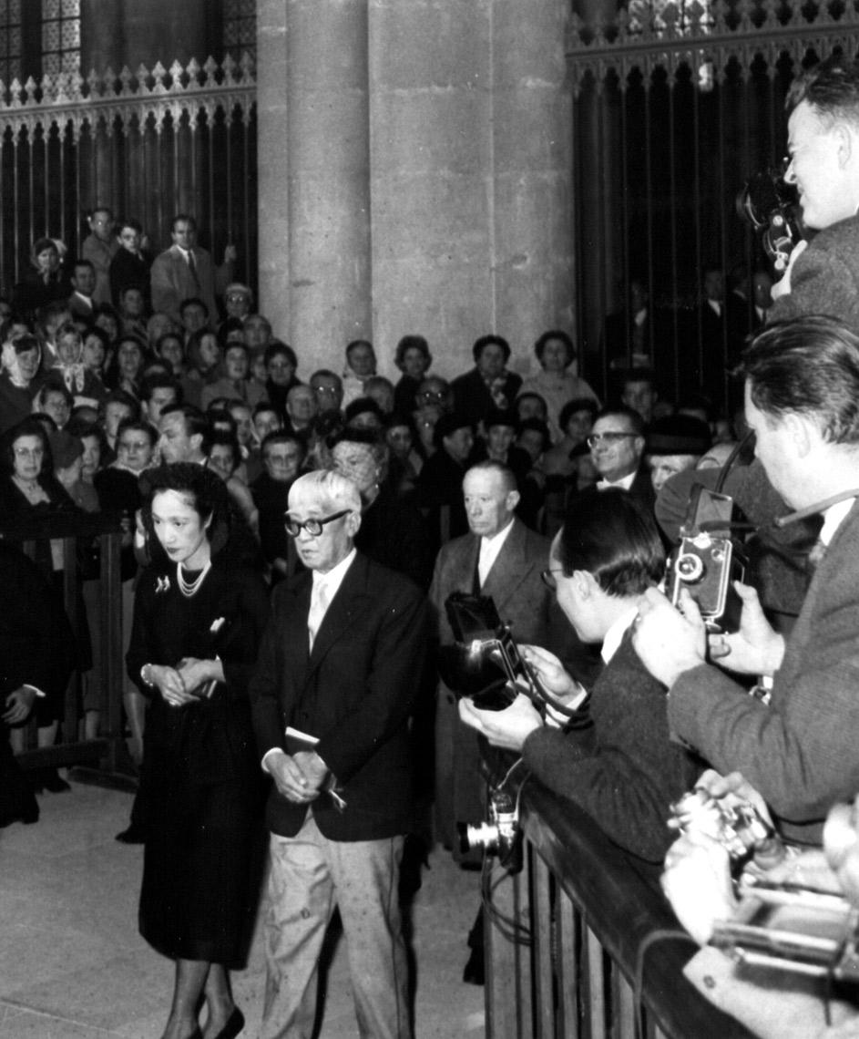 Foujita, baptême à Reims, 1959
