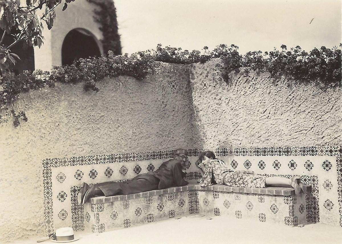 Foujita et Madeleine au Mexique, 1933