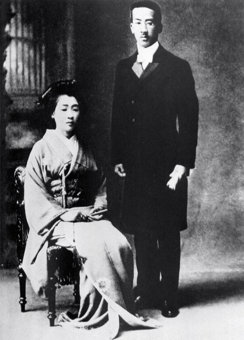 Tomiko et Tsuguharu Foujita, jour de la cérémonie d'engagement, 1912