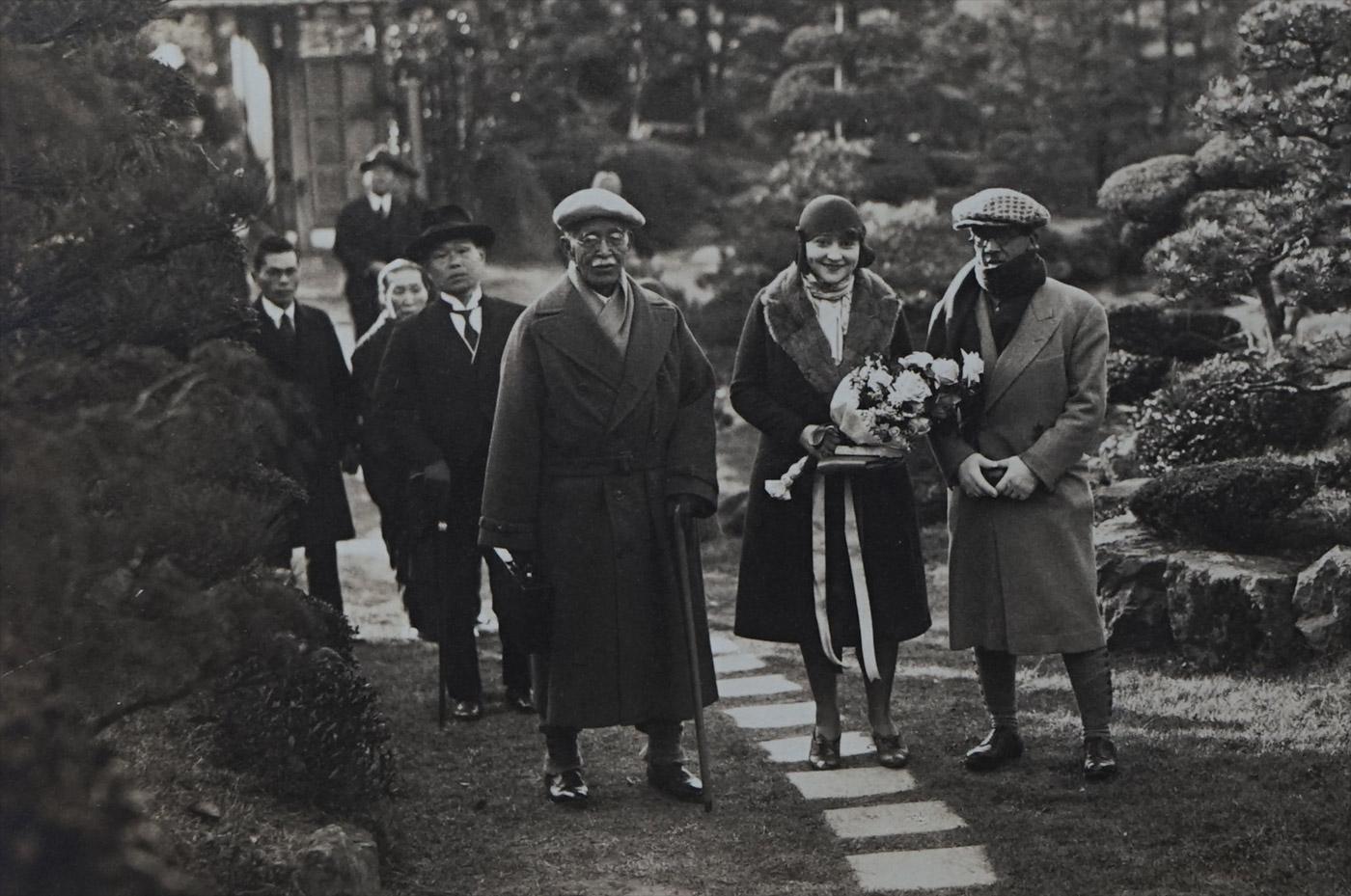 Youki, Foujita et son père, 1929