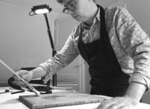 Casimir Buisson, au travail © Arch. art.